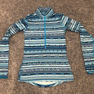 Nike Pro Dri Fit Blue Pull Over Running Jacket